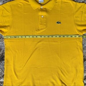Lacoste Shirts - Lacoste Yellow Standard Fit Polo 4